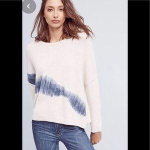 Anthropologie felted brush stroke sweater